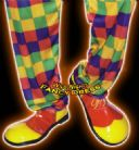 FANCY DRESS COSTUME # CLOWN SHOES RED / YELLOW